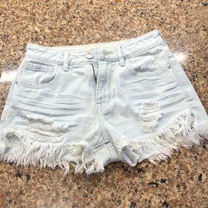 High rise light denim PacSun shorts